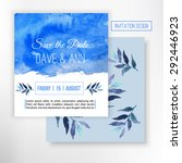 vector save the date card with...   Shutterstock .eps vector #292446923