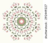round pattern. vintage pattern...   Shutterstock . vector #292449227