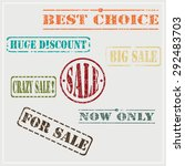 for sale grunge rubber stamp ... | Shutterstock .eps vector #292483703