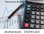 eye glasses  pen and pencil... | Shutterstock . vector #292491263