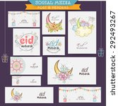 creative decorated social media ... | Shutterstock .eps vector #292493267