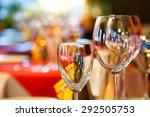 empty wine glasses  closeup.... | Shutterstock . vector #292505753