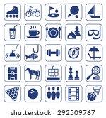 icons  leisure  entertainment ... | Shutterstock .eps vector #292509767
