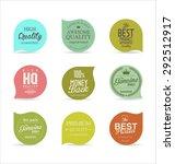 modern badges collection | Shutterstock .eps vector #292512917