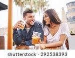 hispanic couple having fun and...   Shutterstock . vector #292538393