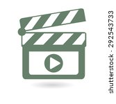 film maker clapper board  icon. ... | Shutterstock .eps vector #292543733