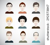 young handsome men with various ... | Shutterstock .eps vector #292573847