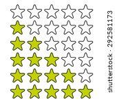rating stars isolated on white. ... | Shutterstock .eps vector #292581173