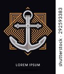 anchor  on line square...   Shutterstock .eps vector #292593383