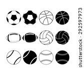 sport ball | Shutterstock .eps vector #292597973