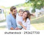 portrait of happy family having ... | Shutterstock . vector #292627733
