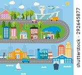 town infographics design... | Shutterstock .eps vector #292645877