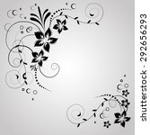 abstract vintage retro floral...   Shutterstock .eps vector #292656293