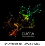 abstract colorful network data... | Shutterstock .eps vector #292664387
