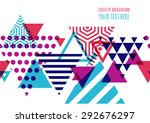 seamless vector geometric...   Shutterstock .eps vector #292676297