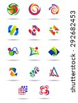 abstract multicolored logotypes | Shutterstock .eps vector #292682453