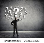 thoughtful businessman with...   Shutterstock . vector #292683233