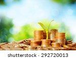 money growing concept business... | Shutterstock . vector #292720013