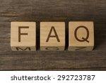 text faq on a wooden cubes | Shutterstock . vector #292723787