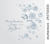 holiday christmas card with...   Shutterstock .eps vector #292733333