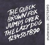 chalk font. handwritten... | Shutterstock .eps vector #292753493
