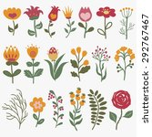 flowers vector set  colorful... | Shutterstock .eps vector #292767467