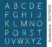modern minimal alphabet  ... | Shutterstock .eps vector #292776923