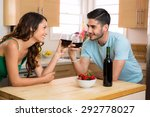 two lovers stare into each... | Shutterstock . vector #292778027
