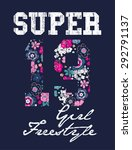 vintage vector print and... | Shutterstock .eps vector #292791137