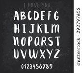 chalkboard alphabet. vector... | Shutterstock .eps vector #292797653
