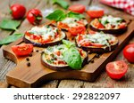 pizza eggplant with tomatoes... | Shutterstock . vector #292822097