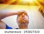 man on a hot summer day in... | Shutterstock . vector #292827323