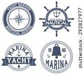 set of nautical yacht badges.... | Shutterstock .eps vector #292827977