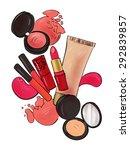 fashion illustration. makeup... | Shutterstock . vector #292839857