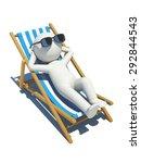 3d people lying on a beach. 3d... | Shutterstock . vector #292844543