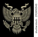 american eagle emblem | Shutterstock .eps vector #292850543