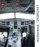 airbus a330 airplane's cockpit...   Shutterstock . vector #292852457