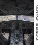 airbus a330 airplane's cockpit...   Shutterstock . vector #292852493