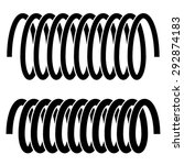 vector tension spring black... | Shutterstock .eps vector #292874183