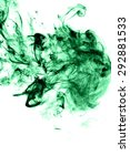 abstract green smoke on white...   Shutterstock . vector #292881533