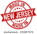 made in new jersey red round... | Shutterstock .eps vector #292897373