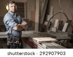 image of mature carpenter in... | Shutterstock . vector #292907903