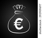 euro icon illustration | Shutterstock . vector #292909697