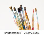 brushes and art supplies | Shutterstock . vector #292926653