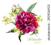 Vector Watercolor Bouquet...