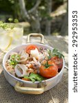 Small photo of A traditional dish of Tuscany with farro and seafood