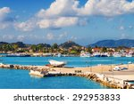 zakynthos town in the morning ... | Shutterstock . vector #292953833