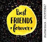 best friends forever. hand... | Shutterstock .eps vector #292955867