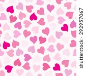 hearts seamless pattern.... | Shutterstock .eps vector #292957067
