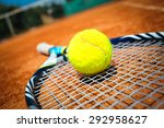 tennis racket and ball | Shutterstock . vector #292958627